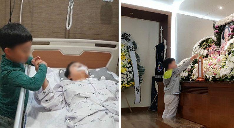 '아들의 생일축하 노래에 기적적으로 눈 뜬 암말기 아내'