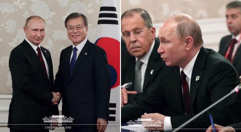 이번엔 '111분 지각' 한-러 정상회담서 보여준 '푸틴타임'