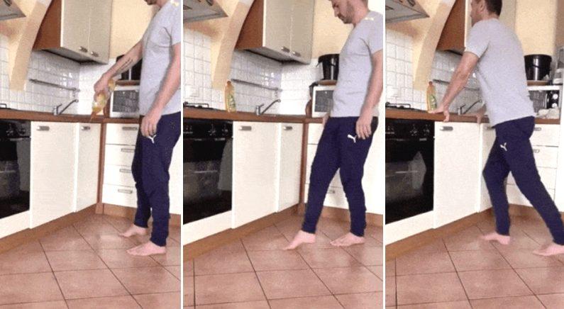 """""""다이어트 해야 하는데 코로나 때문에 집에서 운동했습니다"""" (영상)"""