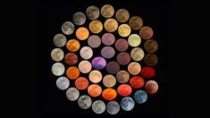 10년 동안 보름달 뜰 때마다 사진 찍은 결과, 달이 가진 48가지 색깔이 나타났다