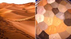 사하라 사막 다니면서 주운 '색다른 모래들'을 모아놓은 사진