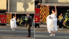 결혼식 하던 중에 교통사고 현장 발견하고 달려가 도로 상황 통제한 '경찰' 신부