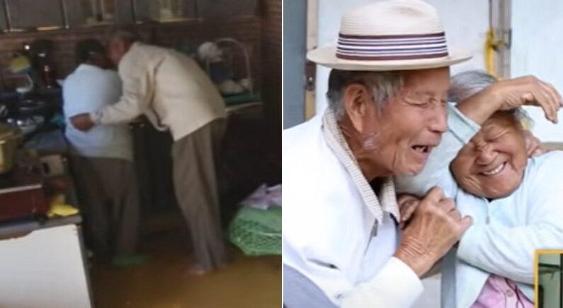 아침부터 설거지하는 할머니 곁에 다가간 할아버지가 조용히 건넨 말 (영상)