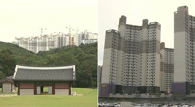 """""""언제부터 문화재에 이렇게 관심 있었다고…"""" 검단 왕릉 아파트 일부 입주 예정자들 반응"""