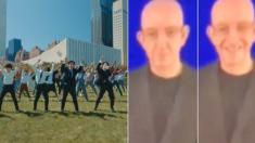 UN 공연에서 방탄소년단의 수어 안무를 본 수어 통역사의 표정 변화