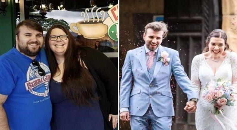 멋진 결혼식 올리기 위해 3년 동안 둘이 합쳐 135kg 감량한 커플