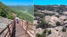 아찔한데 그만큼 장관이라고 입소문 퍼지고 있는 최근 한국에 만들어진 '절벽길'